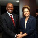 Der Präsident Guineas, Alpha Condé, mit der brasilianischen Präsidentin Dilma Russeff. Foto von dilmarousseff via Flickr, CC-BY-SA.