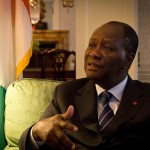 Africa Renewal Magazine and UN Radio jointly interview the president of Côte d'Ivoire, Alassane Ouattara, Sept 24, 2011, in New York. Photocredit: Africa Renewal (CC BY-NC-SA 2.0)